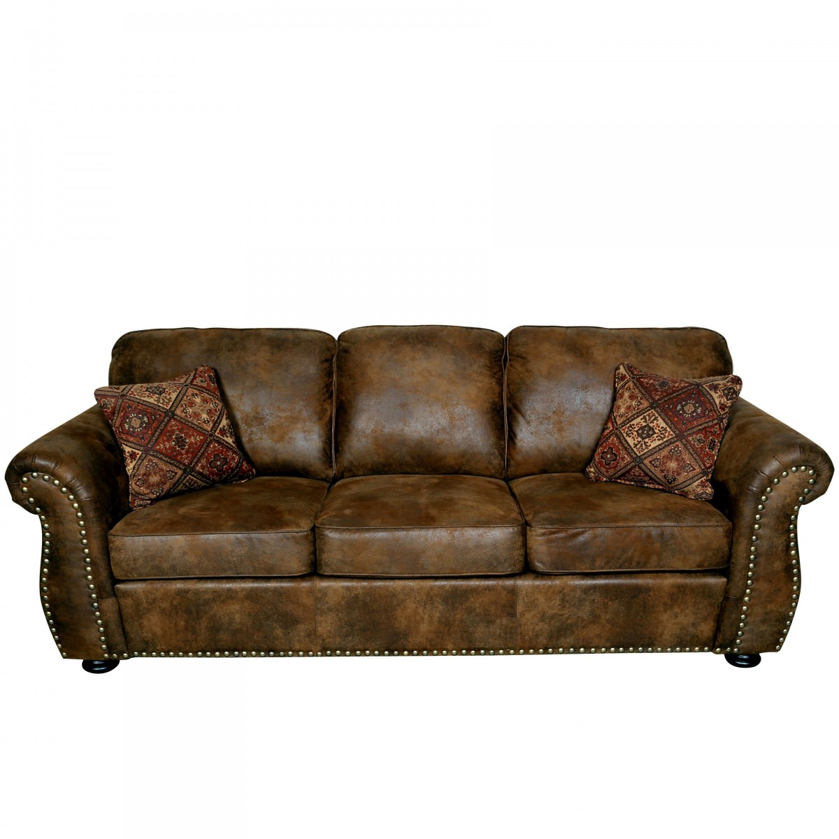 Cheap Faux Leather Sofa: Porter Elk River Faux Leather Microfiber Sofa With Roll