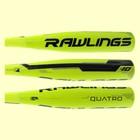 """2017 Rawlings Quatro Senior League Baseball Bat: SL7Q10 28"""" 18 oz."""