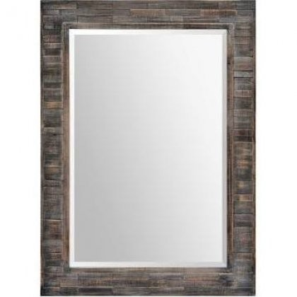 Ren-Wil MT1541 30x42 Liuhana Mirror with Wood Frame in Dark Charcoal