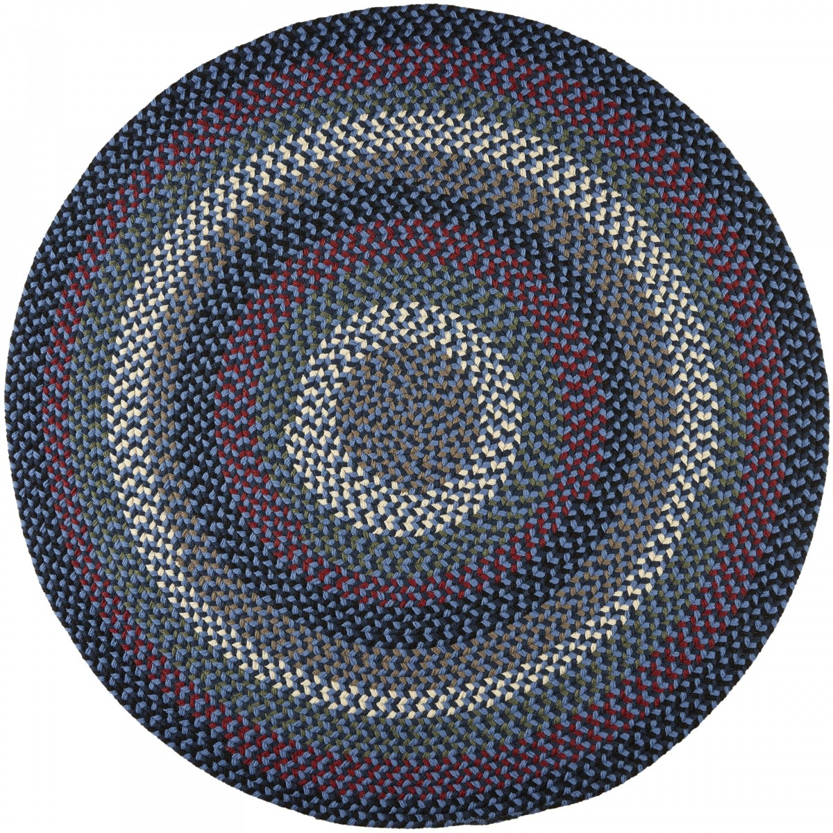 Rhody Rug Mayflower Old Glory 4' Round Rug