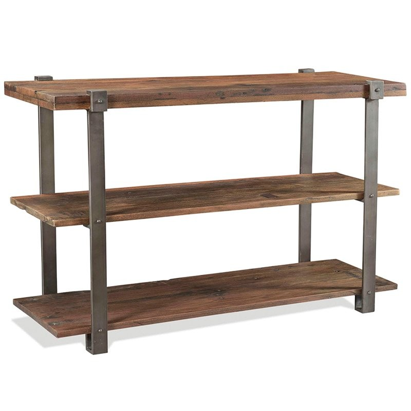 Riverside Furniture Quinton Console Table In Patina Wood