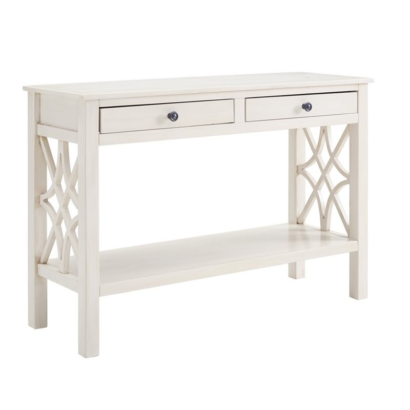 Riverbay Furniture Console Table In Off White