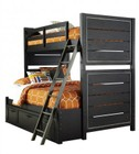 Samuel Lawrence Graphite 8942730731732BD 2 PC Bedroom Set with Twin Size Bunk Bed + Underbed Storage Drawers in Black Color