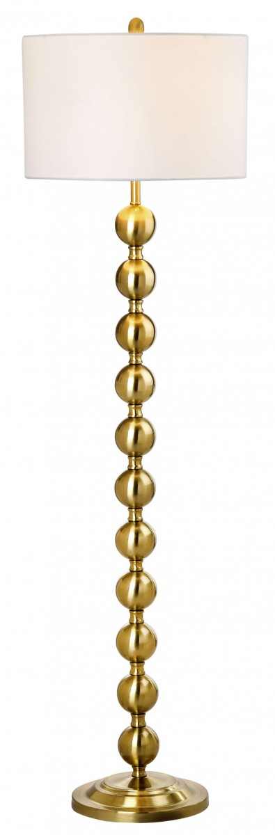 Safavieh Reflections Brass 58 5 Quot Stacked Ball Floor Lamp Discount Bandit