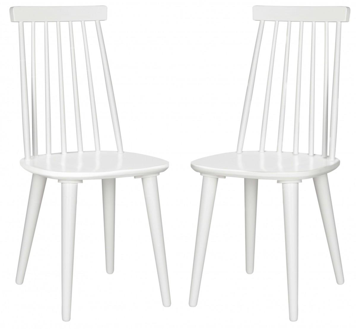 Safavieh Burris White Dining Chair - Set Of 2