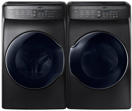 Samsung Black Stainless Steel Laundry Pair With