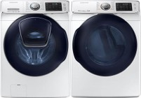 Samsung White Front Load Laundry Pair with WF45K6500AW 27