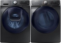 Samsung Black Stainless Front Load Laundry Pair with WF45K6500AV 27