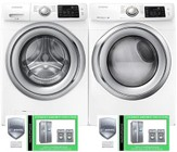 Samsung White Front Load Laundry Pair with WF42H5200AW 27