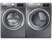 Samsung Stainless Platinum Front Load Laundry Pair with WF42H5200AP 27