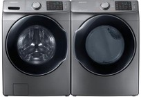 Samsung Platinum Front Load Laundry Pair with WF45M5500AP 27