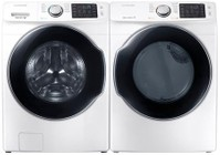 Samsung White Front Load Laundry Pair with WF45M5500AW 27