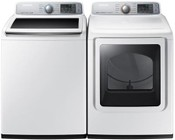 Samsung White Top Load Laundry Pair with WA50M7450AW 27