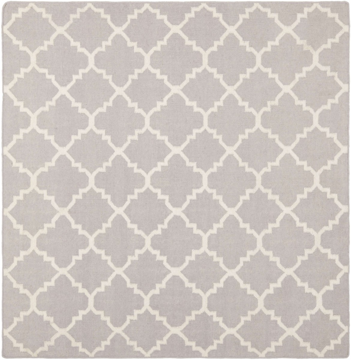 Damask Flatweave Rug: Safavieh Dhurries Flatweave Gray And Ivory 8' X 8' Square