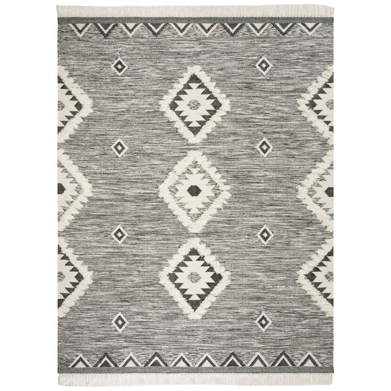 12 10 X 14 11 Persian Karajeh Hand Knotted Wool: Safavieh Kenya 10' X 14' Hand Knotted Wool Rug In Black