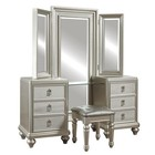 Samuel Lawrence 8808032 Diva Vanity Tri-View In Silver Mirror