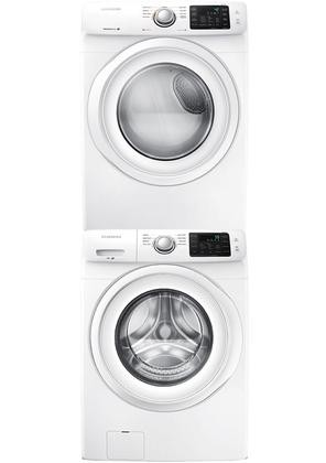 Samsung White Front Load Laundry Pair With Wf42h5000aw 27