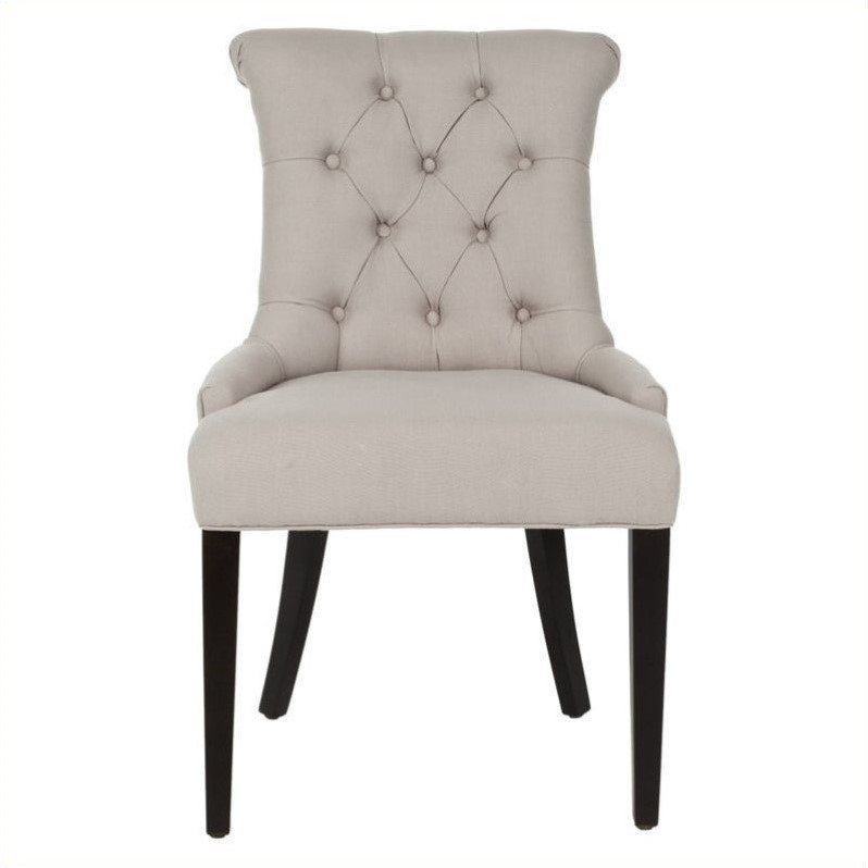 Safavieh Bowie Birch Dining Chair In Taupe (Set Of 2