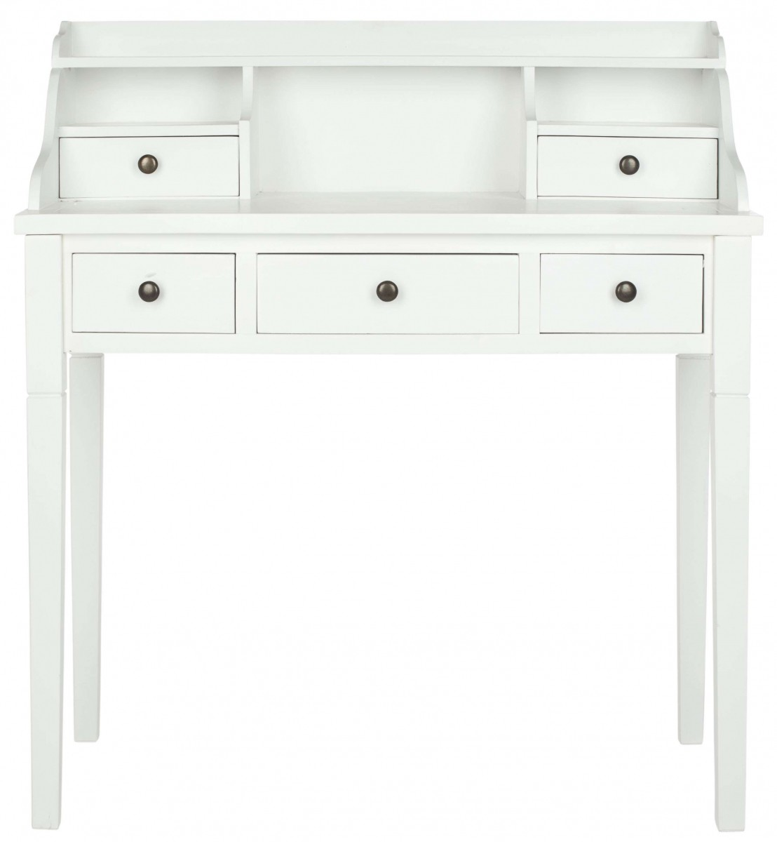 Safavieh Landon White 5-Drawer Writing Desk | Discount Bandit