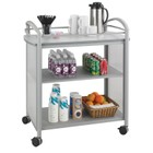 Safco Impromptu Serving Cart in Metallic Gray