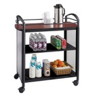 Safco Impromptu Serving Cart in Cherry