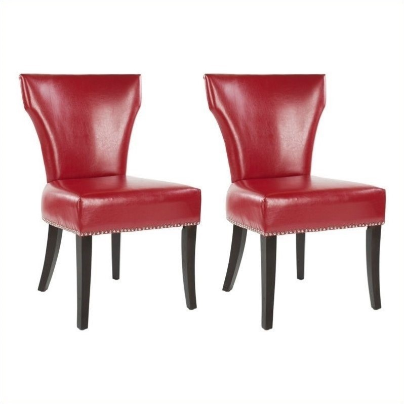 Safavieh Maria Birch Dining Chair In Red (Set Of 2