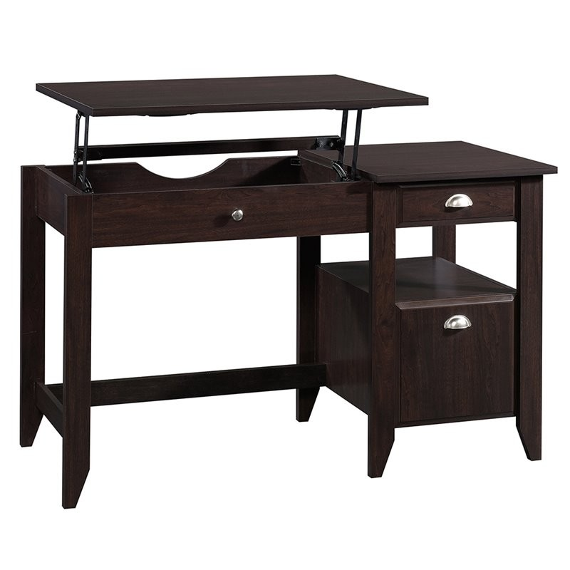 Sauder Shoal Creek Lift Top Desk In Jamocha Wood 422378