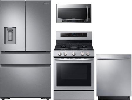 Samsung 4-Piece Kitchen Appliances Package with RF23M8070SR 36\