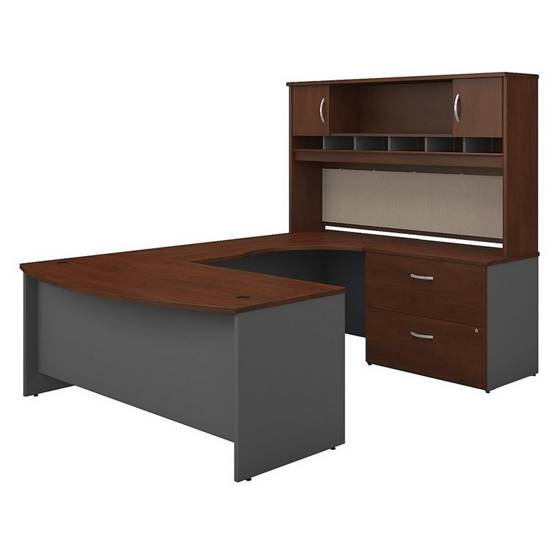 Scranton Amp Co 72 Quot Right U Shaped Hutch Desk In Hansen