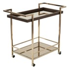 Scranton & Co Bar Cart in Bronze and Champagne