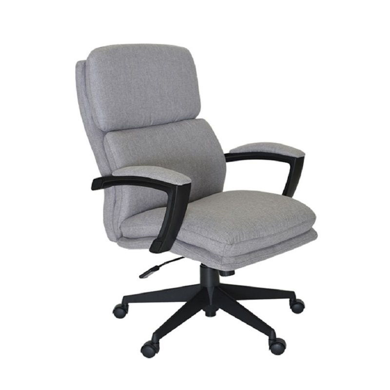 Serta at home style morgan linen office swivel chair in for Swivel chairs for office