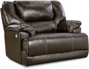 "Simmons Upholstery Bingo 50451BR-195 51"" Cuddler Recliner with Split Back Cushion and Plush Padded Arms in Brown"