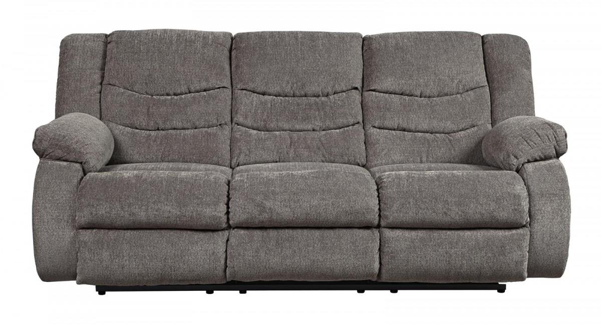Signature Design By Ashley Tulen Gray Reclining Sofa