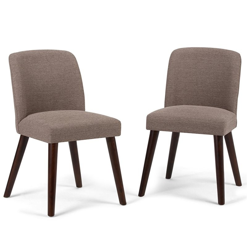 Simpli Home Emery Upholstered Dining Side Chair In Brown