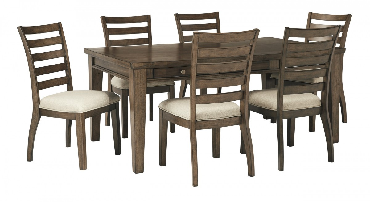 Signature Design By Ashley Flynnter Brown 7 Piece Rectangular Dining Room Set