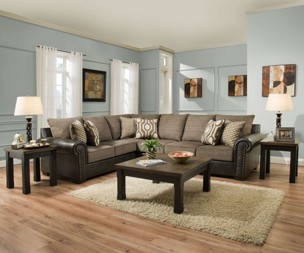 Lucky Marble 2 Piece Sectional Sofa