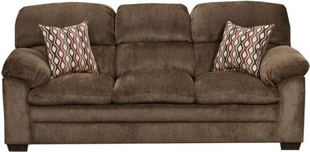 Simmons Upholstery 3683 03 Harlow Chestnut 86 Sofa With Accent Pillows Included Pillow Top