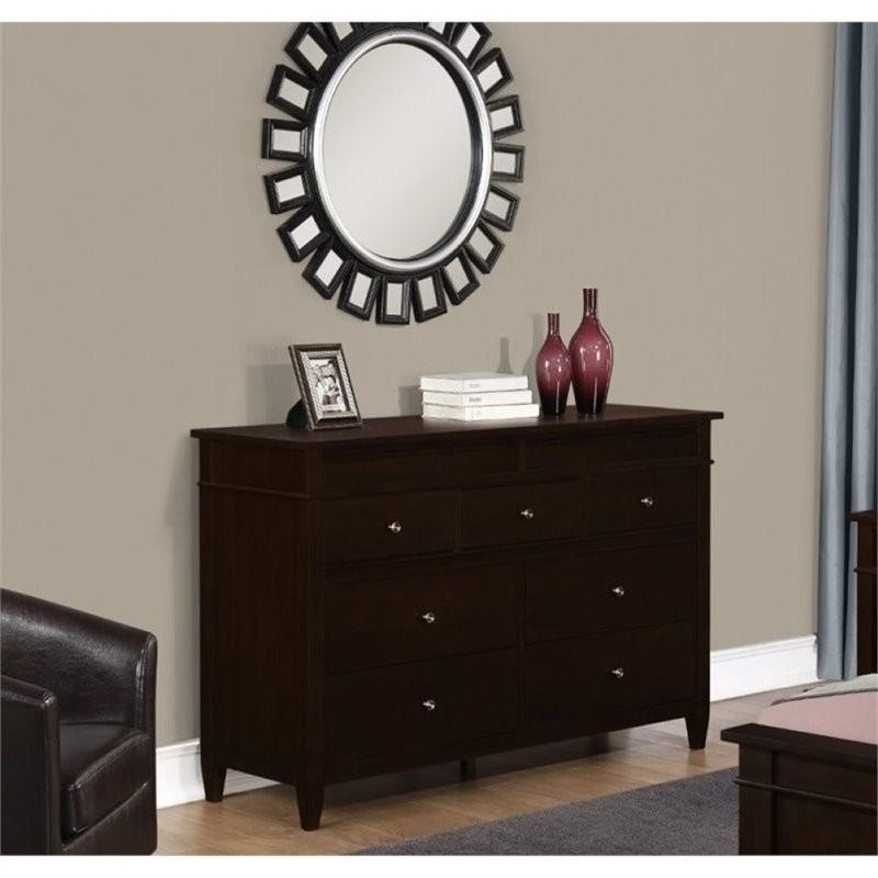 Simpli Home Carlton Bedroom Dresser In Tobacco Brown