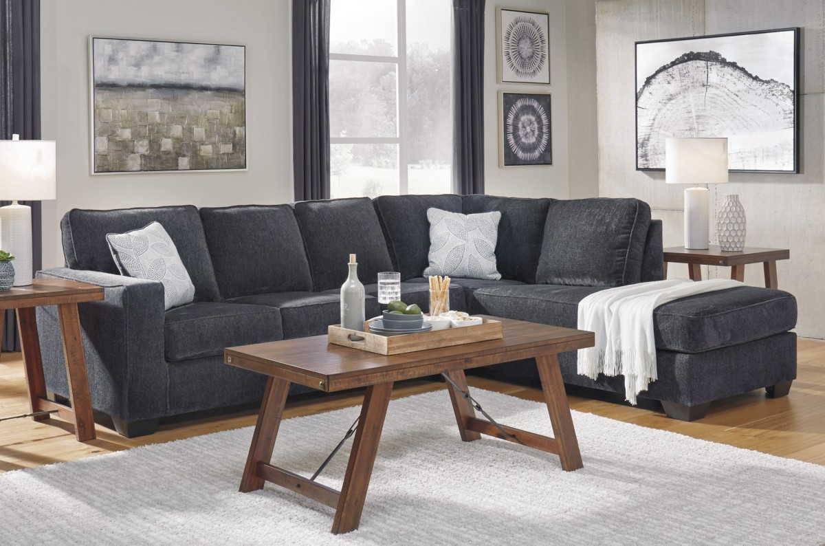 Excellent Signature Design By Ashley Altari Slate 2 Piece Right Facing Chaise Sectional Sofa Short Links Chair Design For Home Short Linksinfo