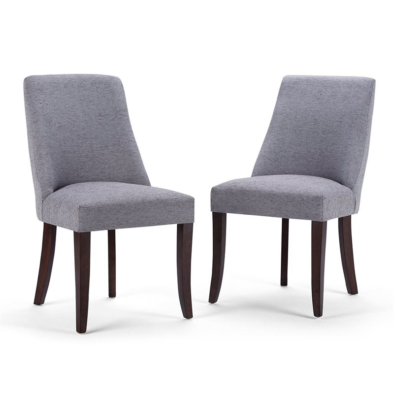 Simpli Home Walden Deluxe Dining Chair In Gray (Set Of 2