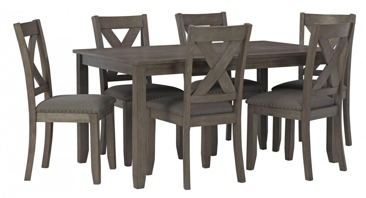Signature Design By Ashley Caitbrook Gray 7 Piece Rectangular Dining Room Set Discount Bandit