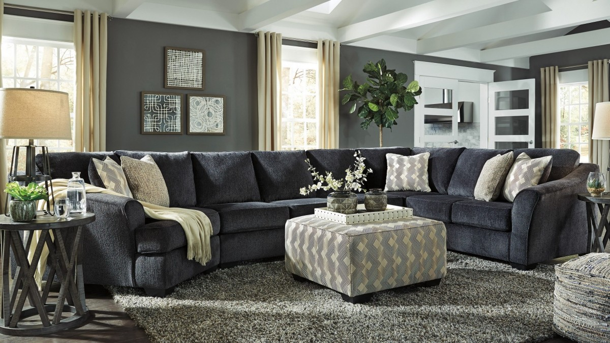 Signature Design By Ashley Eltmann Slate 5 Piece Right Arm Facing Living Room Set Discount Bandit