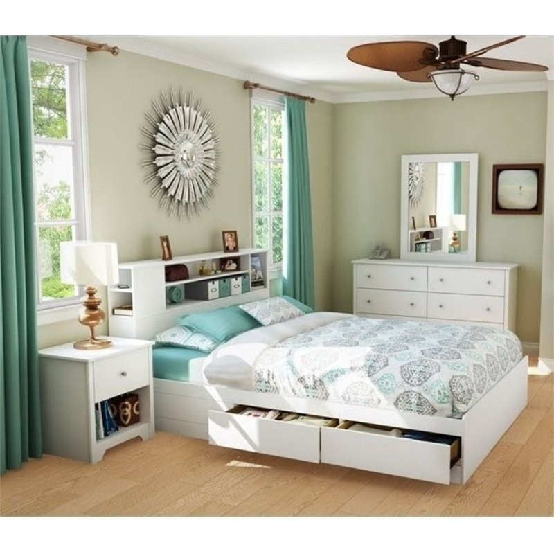 South shore breakwater 3 piece queen storage bedroom set - South shore 4 piece bedroom furniture set ...