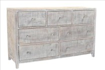 Style N Living IPAC-D-WW Palcon 7 Drawer Dresser