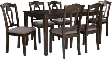 Standard Furniture Grandville Collection 16142 7 PC Dining Table Set with 60  Rectangular Table 6 Side ...  sc 1 st  Discount Bandit & Standard Furniture Grandville Collection 16142 7 PC Dining Table Set with 60