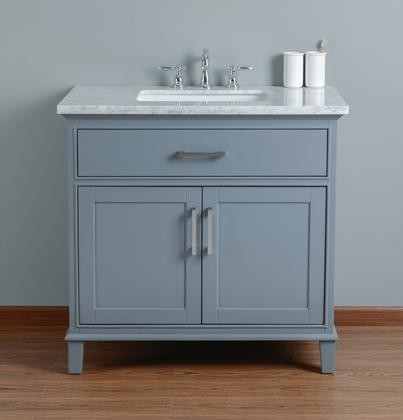 Stufurhome HDGCR Leigh Inches Grey Single Sink Bathroom - 36 inch grey bathroom vanity