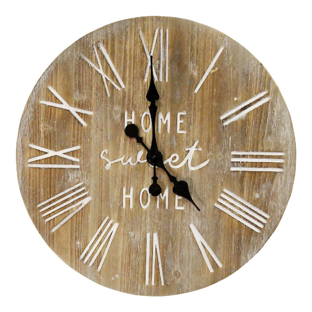 Stratton Home Decor 23 Wood Dale Wall Clock Stratton Home Decor S23764 Discount Bandit