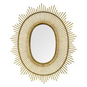 Stratton Home Decor 33 50 Cassie Woven Rattan Wall Mirror Stratton Home Decor S23806 Discount Bandit