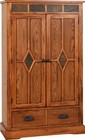 "Sunny Designs Sedona Collection 2212RO 36"" Pantry with 1 Drawer  2 Doors and 3 Adjustable Shelves in Rustic Oak Finish"