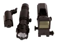 Swiss Arms Optics Accessory Kit, Includes Red Laser, Flashlight & Red Dot Reflex Sight